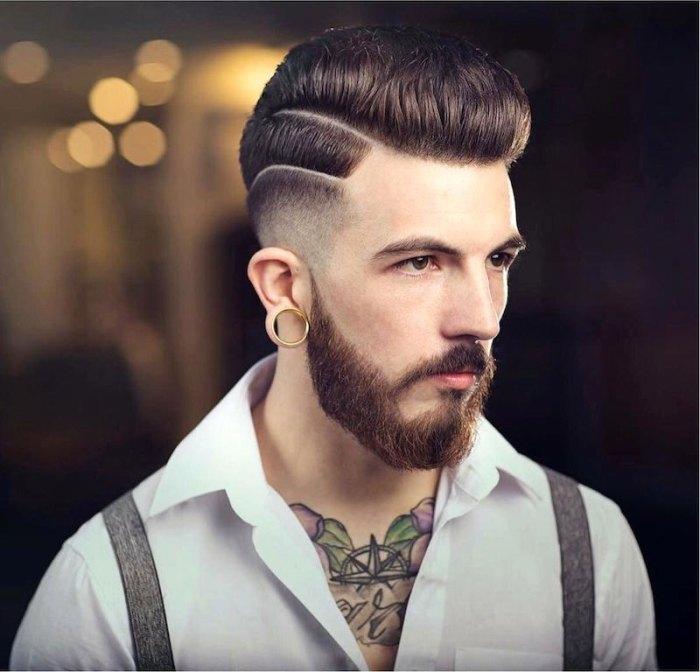 мужские прически на короткие волосы с полосками
