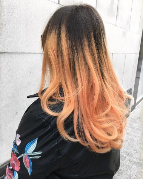 цвет волос розовое золото и балаяж