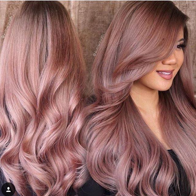 Русый с розовым оттенком цвет волос фото
