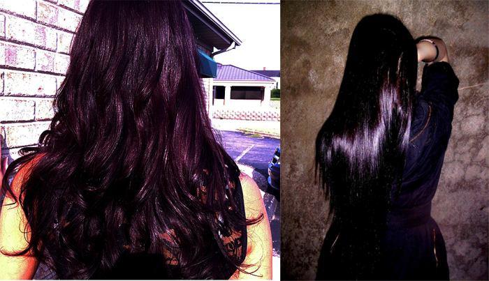 Темно-фиолетовый цвет волос фото